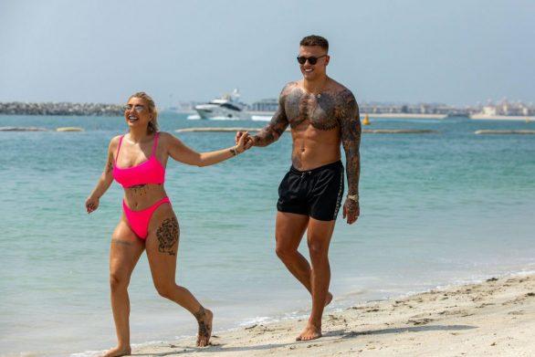 Olivia Buckland 2019 : Olivia Buckland and Alex Bowen were seen on a beach in Dubai-08