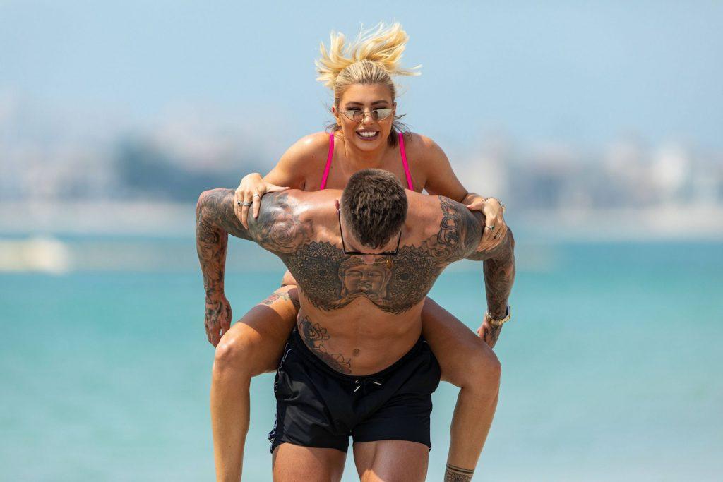 Olivia Buckland 2019 : Olivia Buckland and Alex Bowen were seen on a beach in Dubai-12
