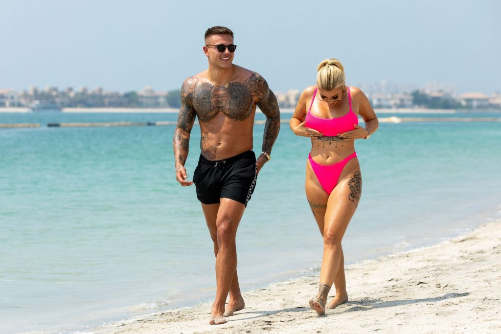 Olivia Buckland 2019 : Olivia Buckland and Alex Bowen were seen on a beach in Dubai-17