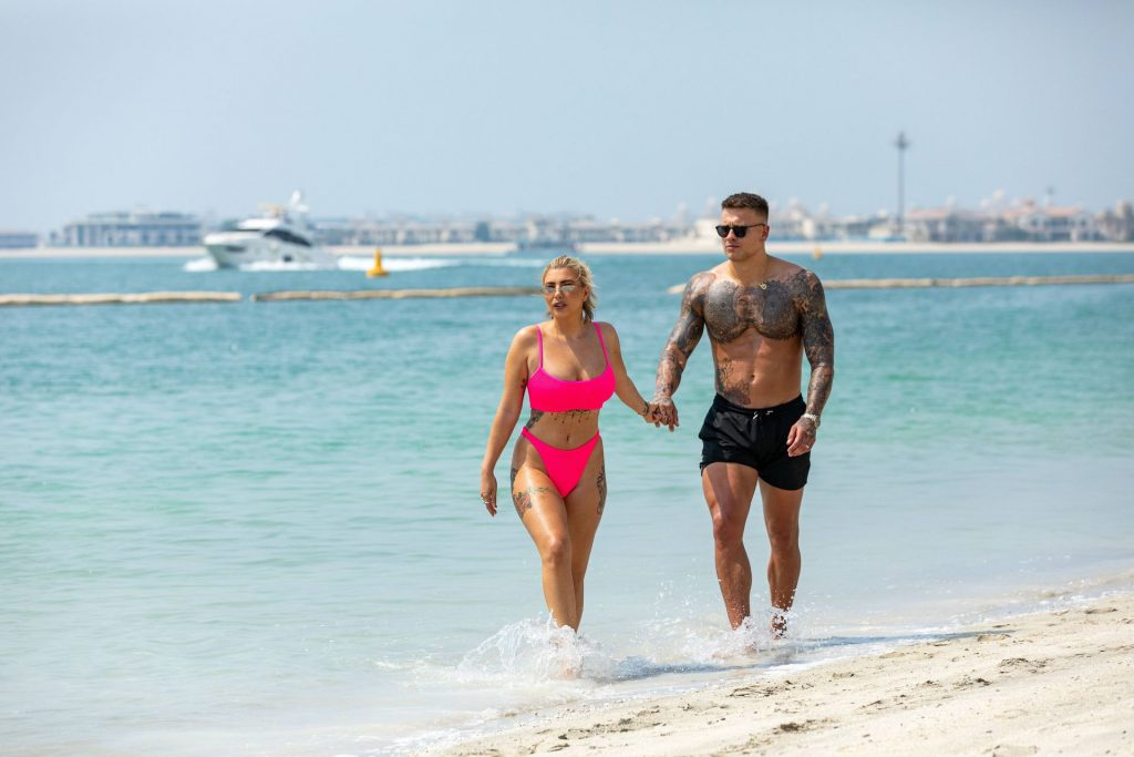 Olivia Buckland 2019 : Olivia Buckland and Alex Bowen were seen on a beach in Dubai-18