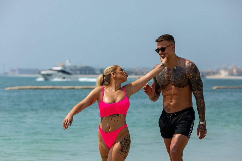 Olivia Buckland 2019 : Olivia Buckland and Alex Bowen were seen on a beach in Dubai-19