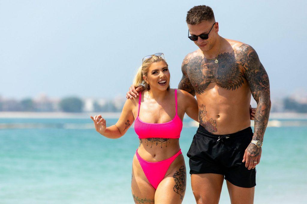 Olivia Buckland 2019 : Olivia Buckland and Alex Bowen were seen on a beach in Dubai-20