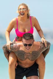 Olivia Buckland and Alex Bowen were seen on a beach in Dubai