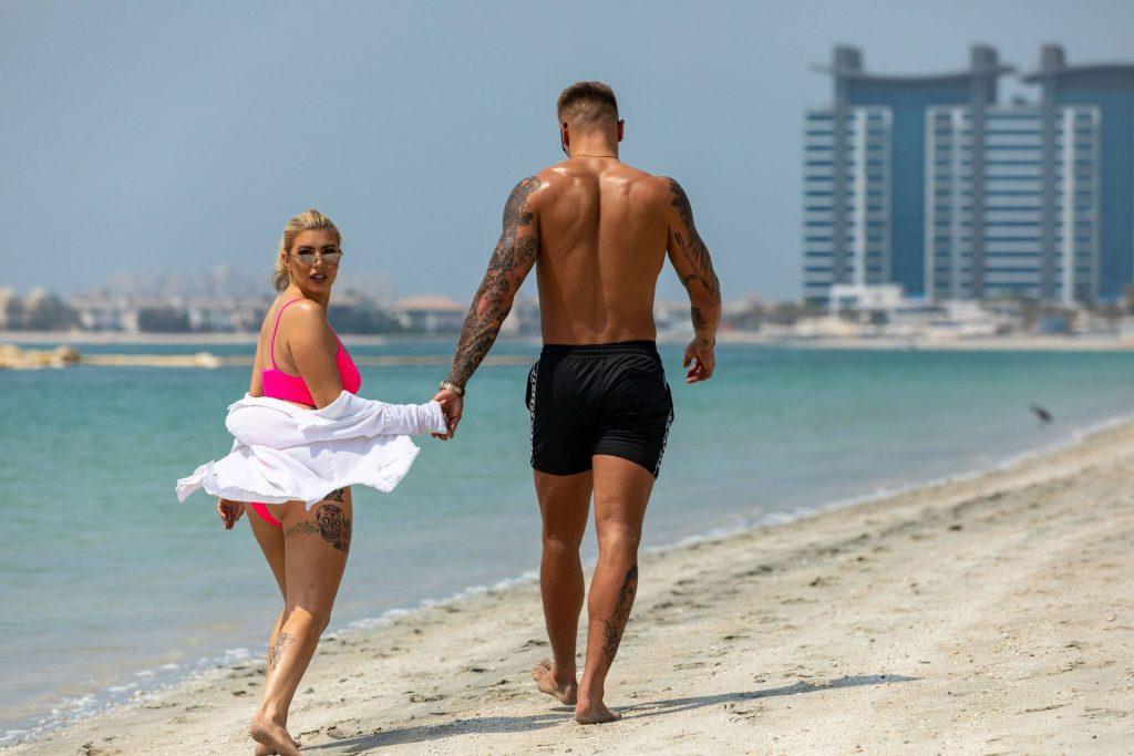 Olivia Buckland 2019 : Olivia Buckland and Alex Bowen were seen on a beach in Dubai-23