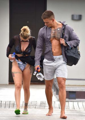 Olivia Buckland in Bikini in Maldives