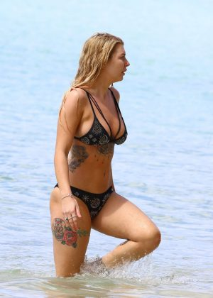 Olivia Buckland in Bikini on holiday in Barbados