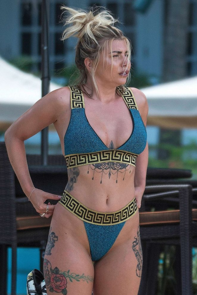 Olivia Buckland in Bikini - On the beach in Barbados