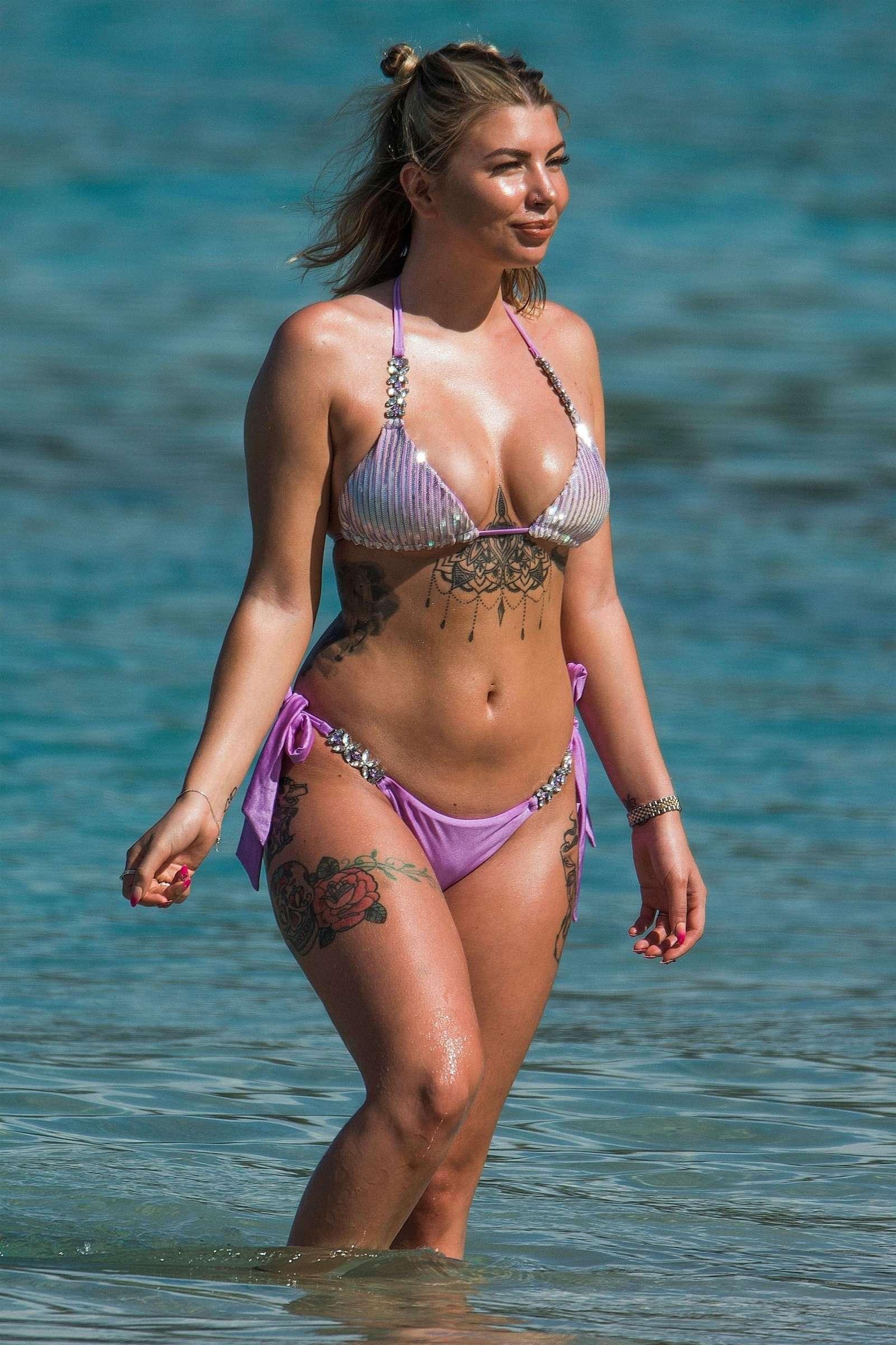 Olivia Buckland in Purple Bikini 2018 -07   GotCeleb