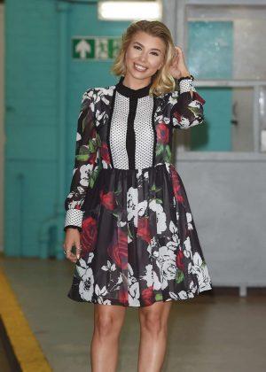 Olivia Buckland - Leaving The ITV Studios In London