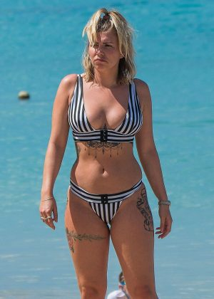 Olivia Buckland - Wearing Bikini on the beach in Barbados