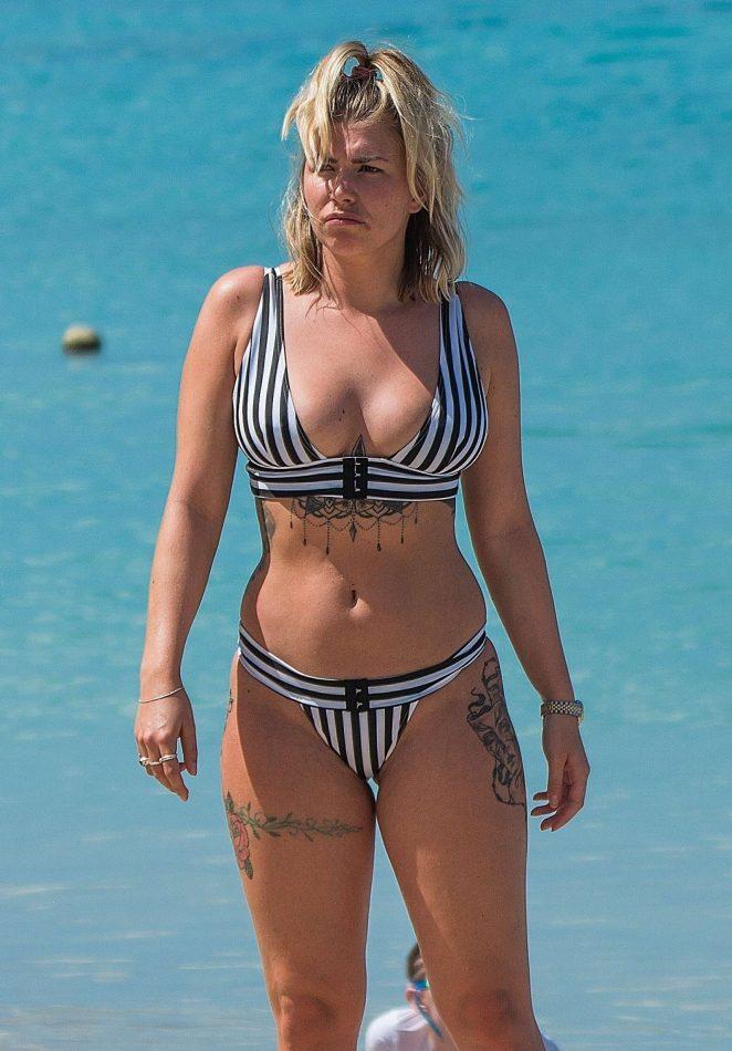 Olivia Buckland - Wearing Bikini on the beach in Barbados