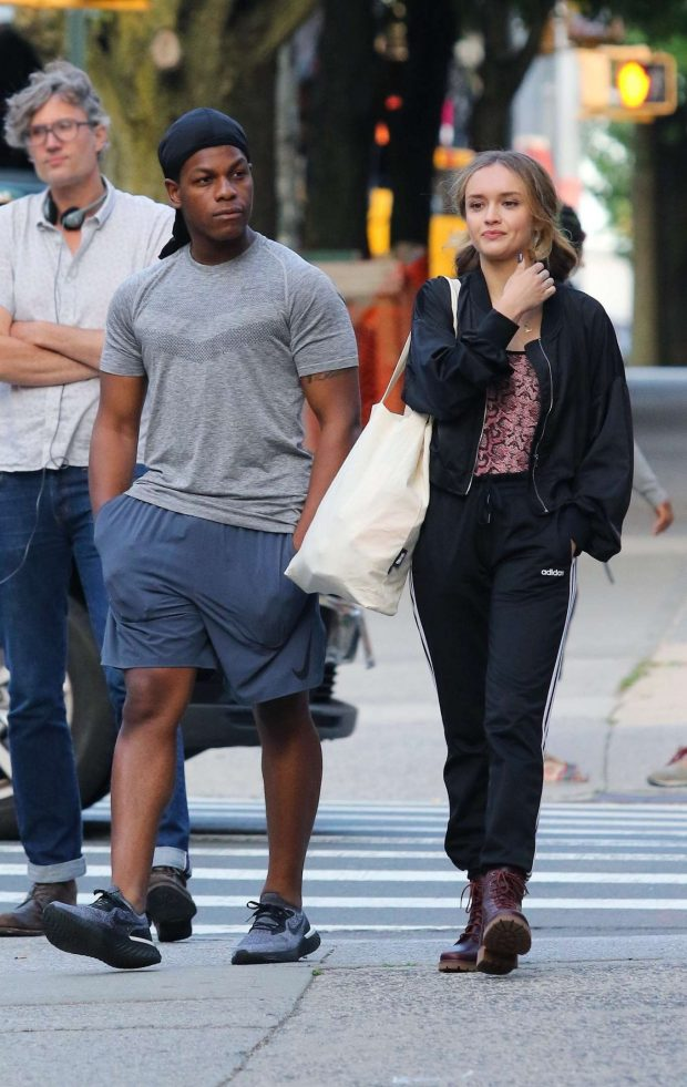 Olivia Cooke and John Boyega - Filming 'Naked Singularity' in Brooklyn