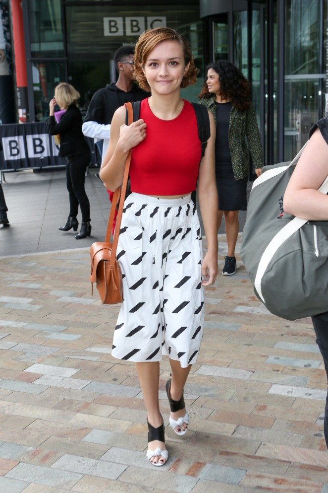 Olivia Cooke at the BBC Studios in Manchester
