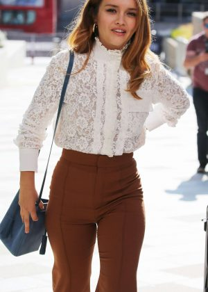Olivia Cooke at the ITV studios in London