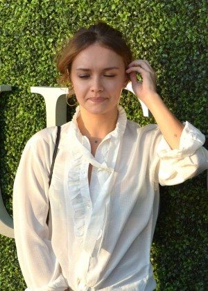 Olivia Cooke at the US Open in New York
