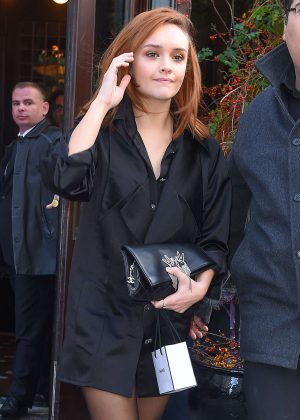 Olivia Cooke - Leaving her hotel in New York