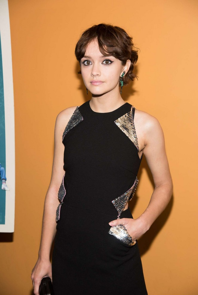Olivia Cooke: Me and Earl and the Dying Girl NY Premiere -01