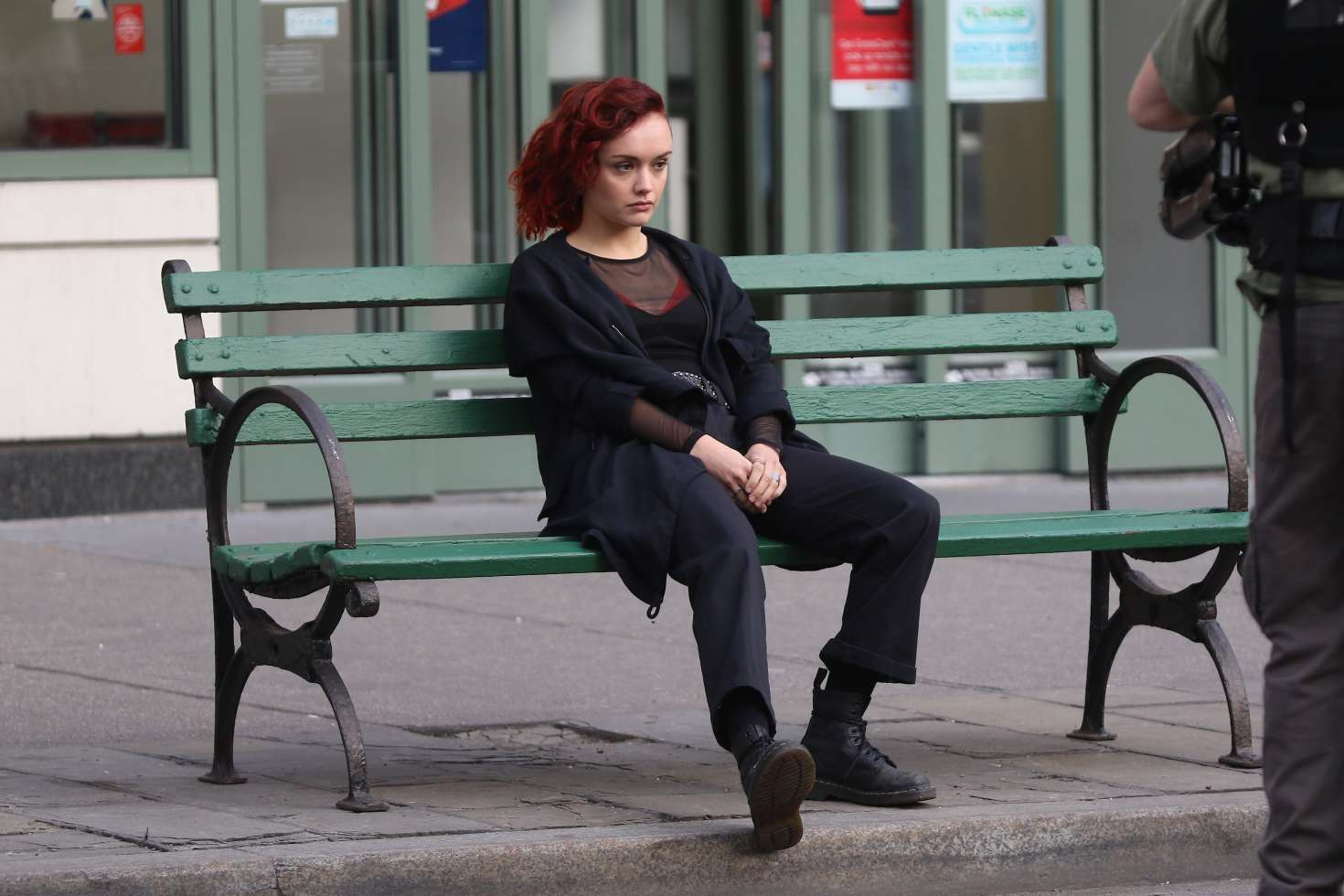 photo Olivia cooke on location for life itself in nyc