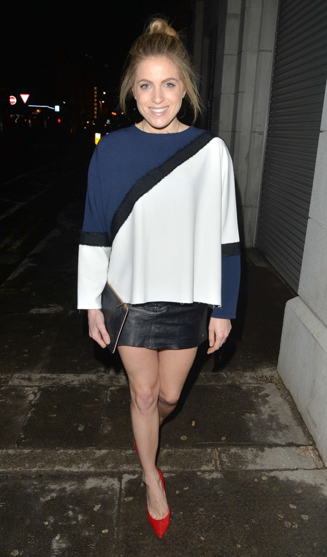 Olivia Cox - Attending the Ukai Sushi Restaurant in London