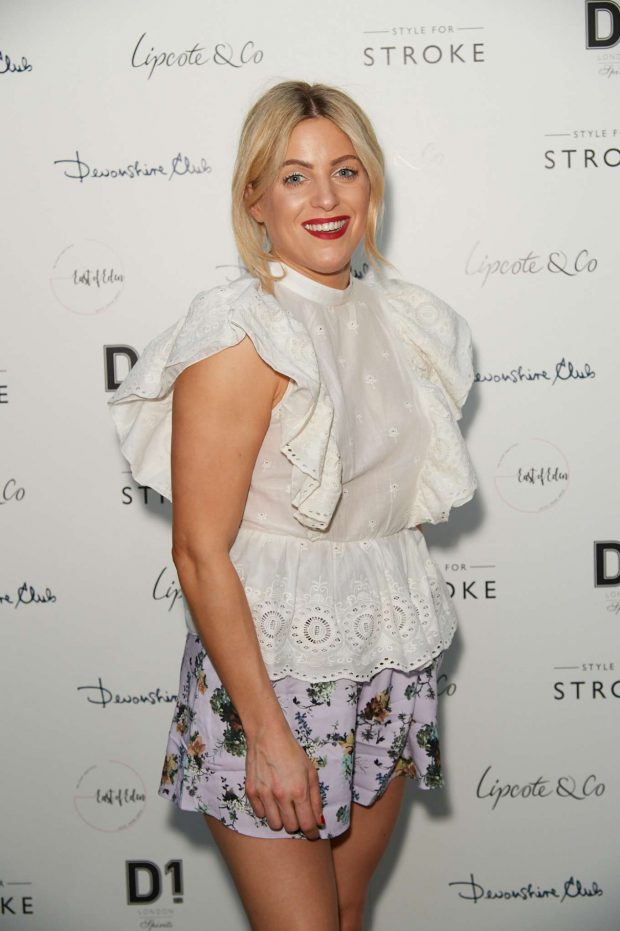 Olivia Cox - Style for Stroke Launch Party in London