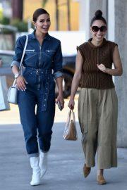 Olivia Culpo and Cara Santana - Leaves Melrose Psychic in Los Angeles