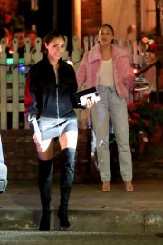 Olivia Culpo and Cara Santana - Leaving the Ivy in West Hollywood