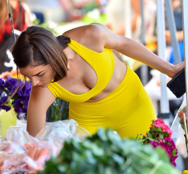 Olivia Culpo and Danny Amendola at a farmer's market in LA