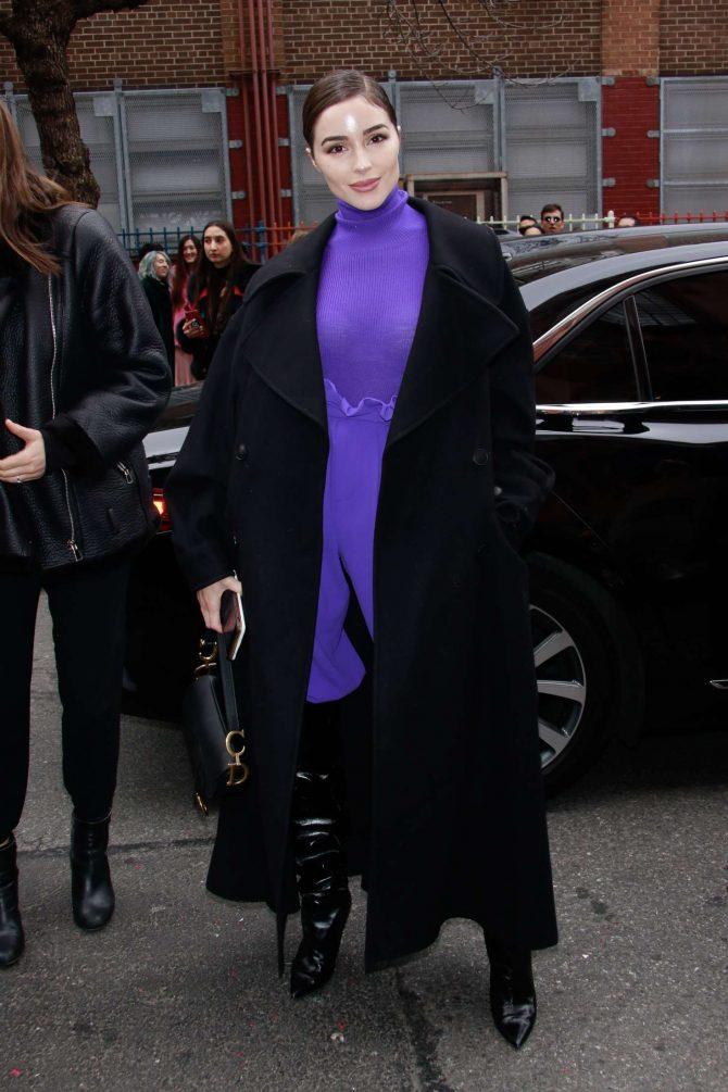 Olivia Culpo – Arrives at Alice + Olivia Fashion Show in NYC