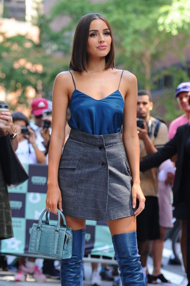 Olivia Culpo - Arrives at the AOL Build Series in New York City