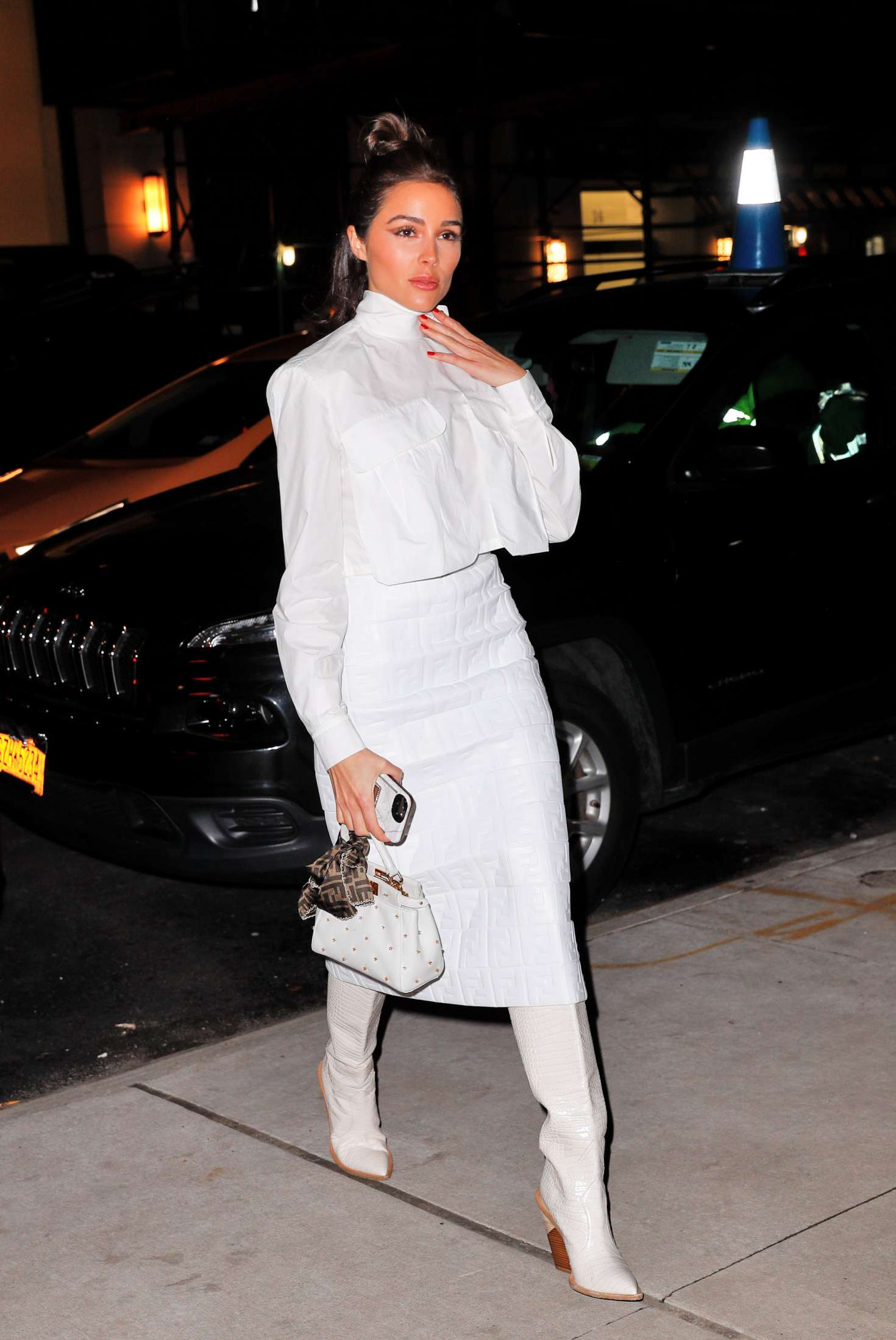 Olivia Culpo - Arrives at the Fendi x The Webster Dinner in New York