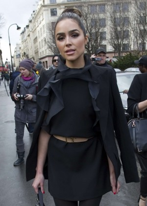 Olivia Culpo - Arriving the Giambattista Valli Fashion Show 2016 in Paris