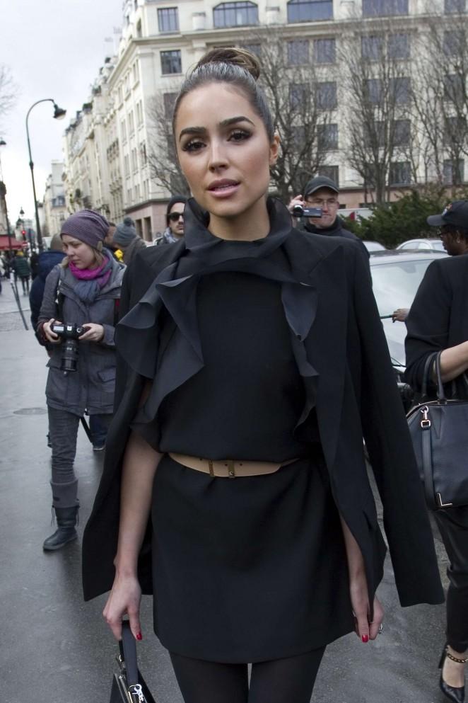 Olivia Culpo – Arriving the Giambattista Valli Fashion Show 2016 in Paris