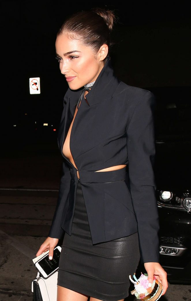 Olivia Culpo at Craig's Restaurant in West Hollywood