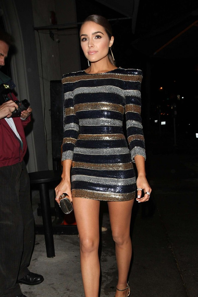 Olivia Culpo at Craigs Restaurant in West Hollywood