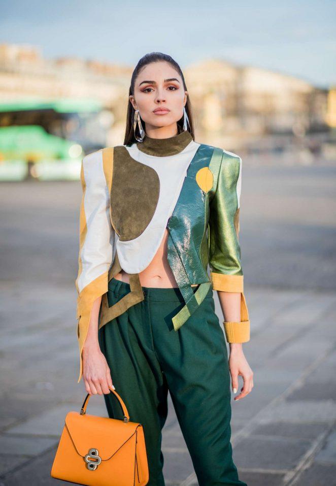 Olivia Culpo at Paris Fashion Week 2018 in Paris