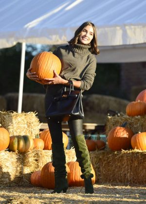 Olivia Culpo at Pumpkin Patch in Los Angeles
