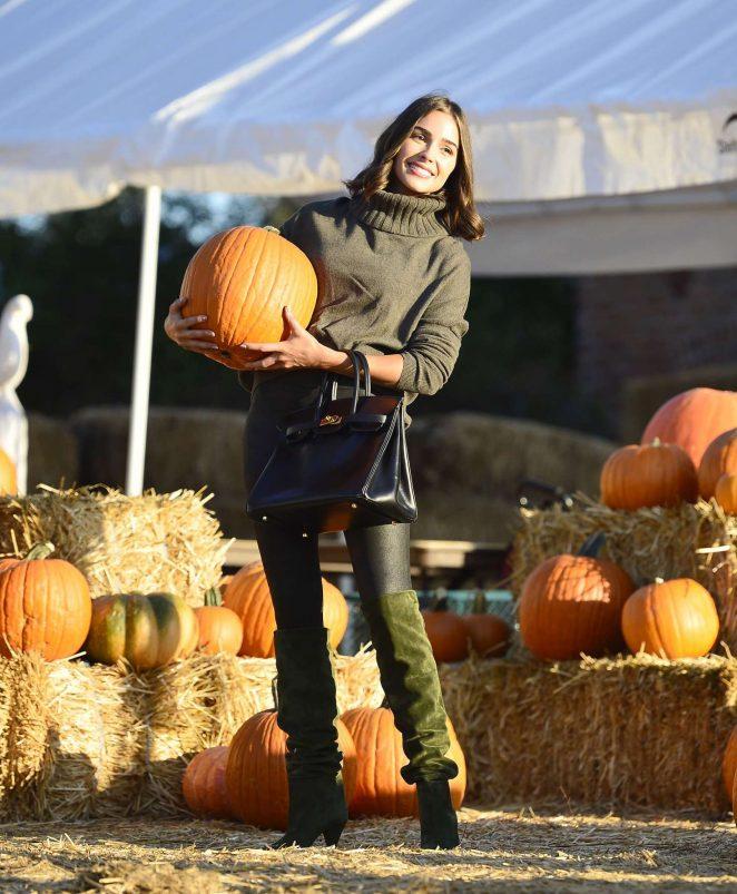 Olivia Culpo at Pumpkin Patch in Los Angeles