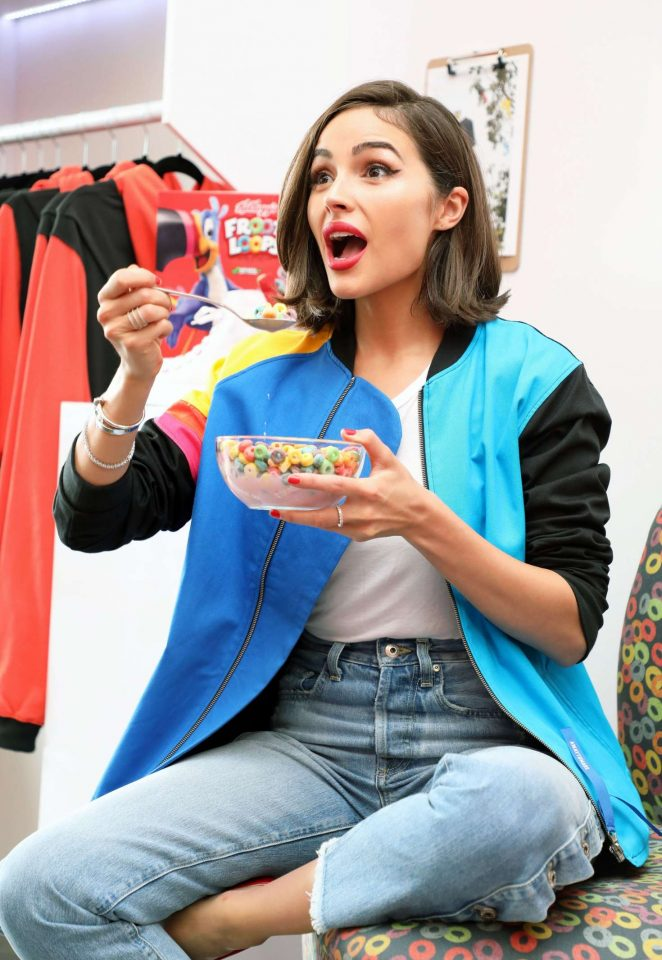 Olivia Culpo - AwayToMars x Froot Loops Capsule Collection in NYC