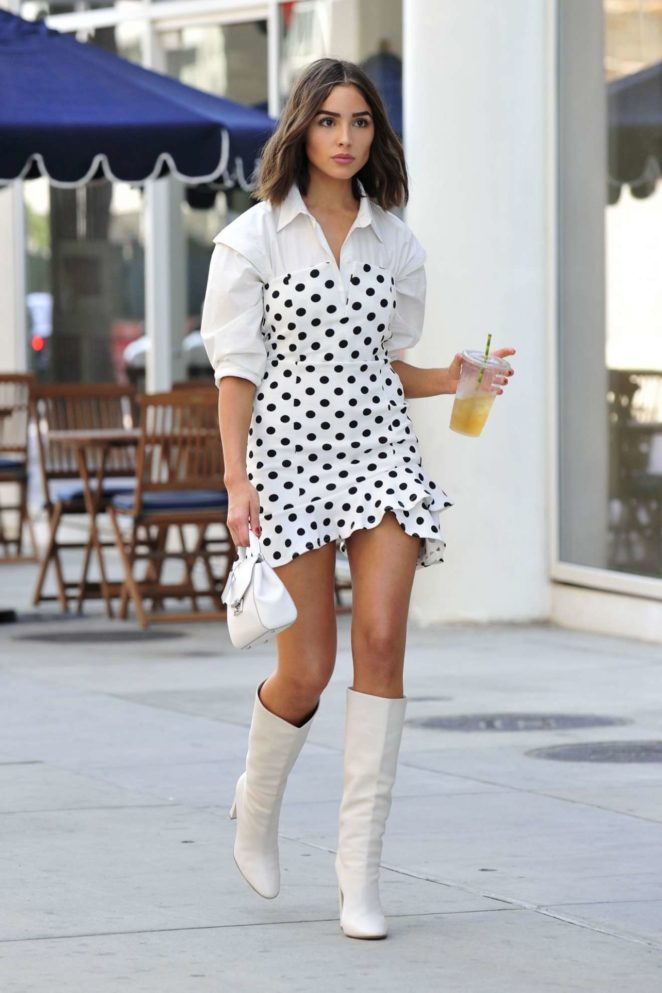 Olivia Culpo - Cute in Dress - Out in Los Angeles