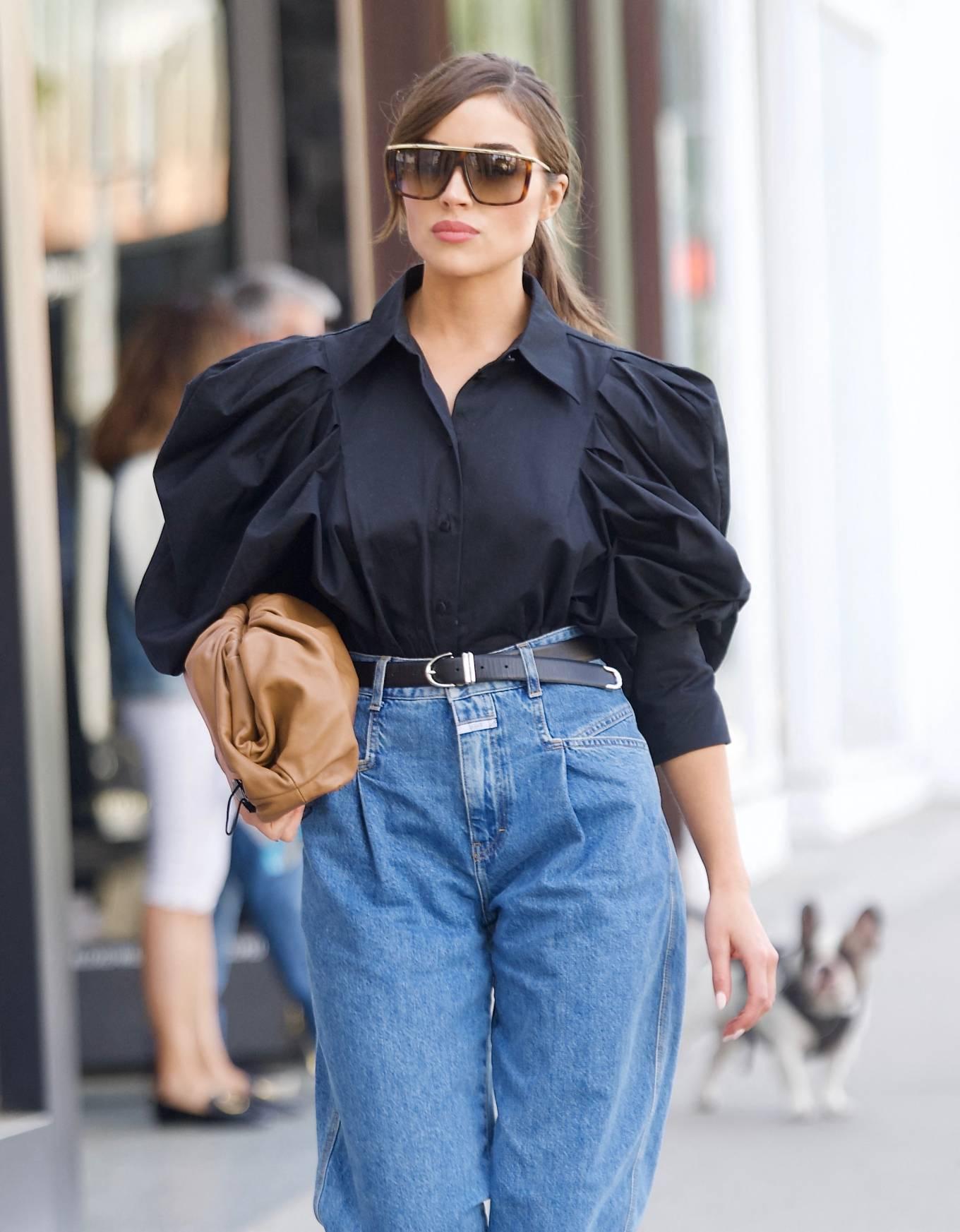 Olivia Culpo 2021 : Olivia Culpo – Dons cowboy boots at Valentino in Beverly Hills-01