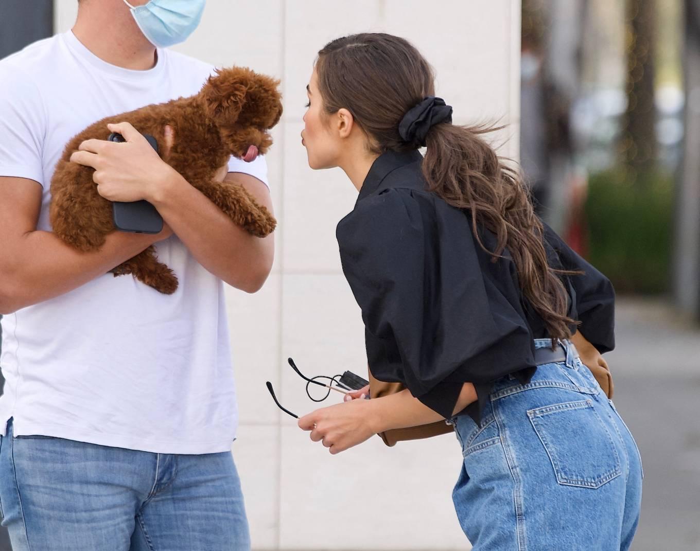 Olivia Culpo 2021 : Olivia Culpo – Dons cowboy boots at Valentino in Beverly Hills-02