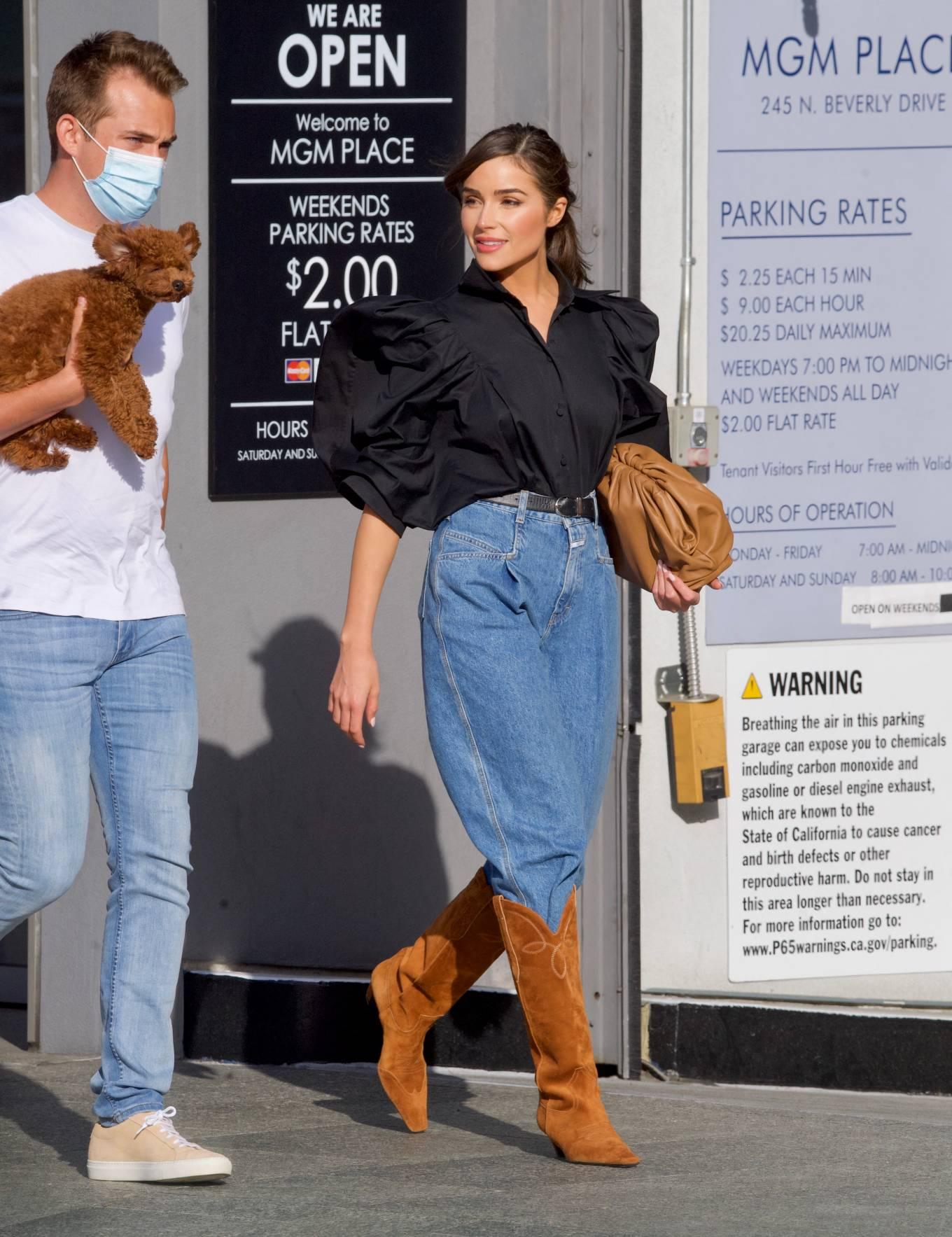 Olivia Culpo 2021 : Olivia Culpo – Dons cowboy boots at Valentino in Beverly Hills-07