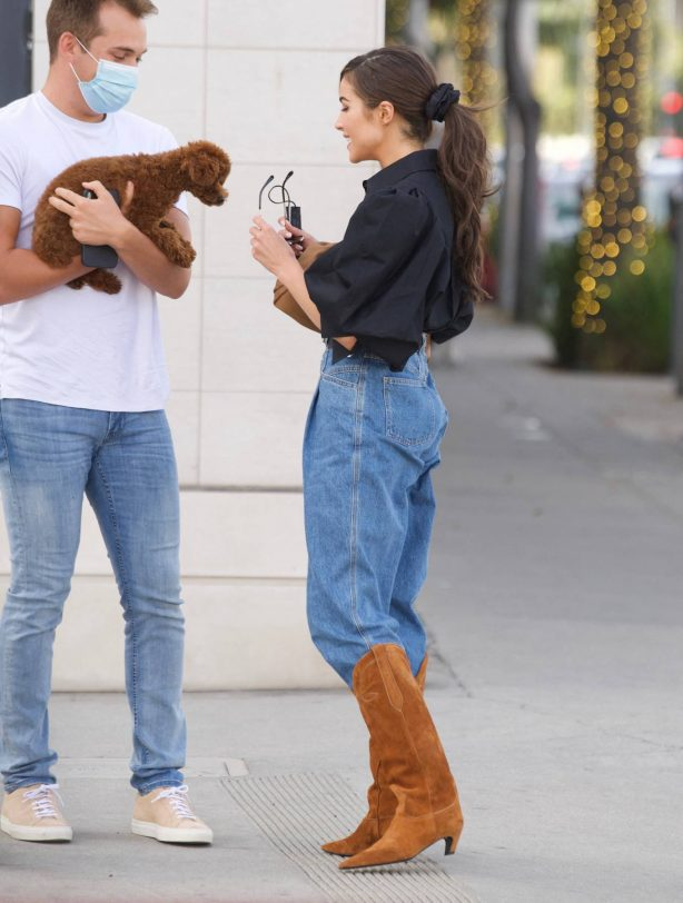 Olivia Culpo - Dons cowboy boots at Valentino in Beverly Hills