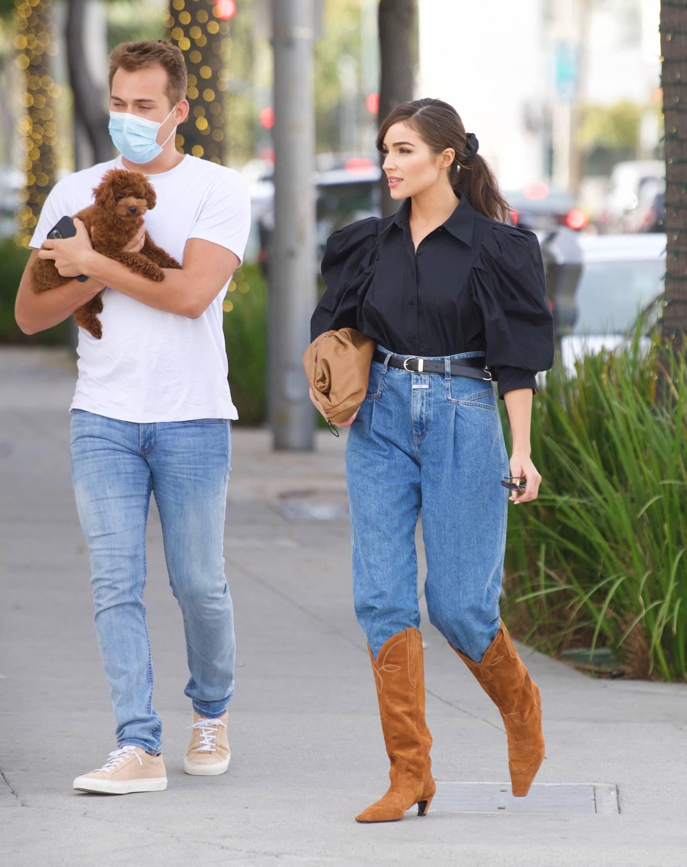 Olivia Culpo 2021 : Olivia Culpo – Dons cowboy boots at Valentino in Beverly Hills-09