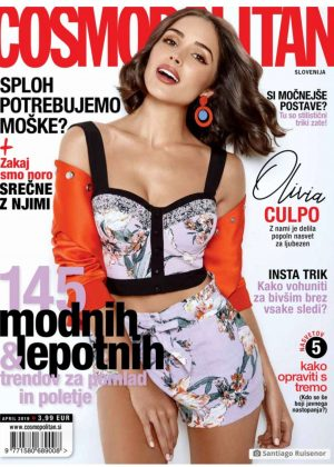 Olivia Culpo for Cosmopolitan Slovenia Cover (April 2019)