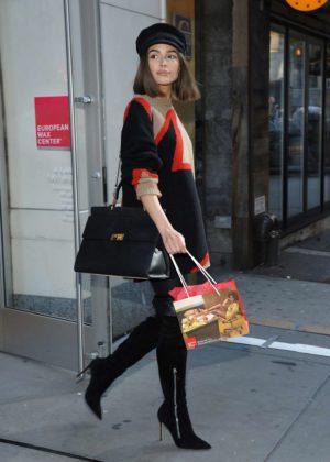 Olivia Culpo - Goes to European Wax Center in NYC
