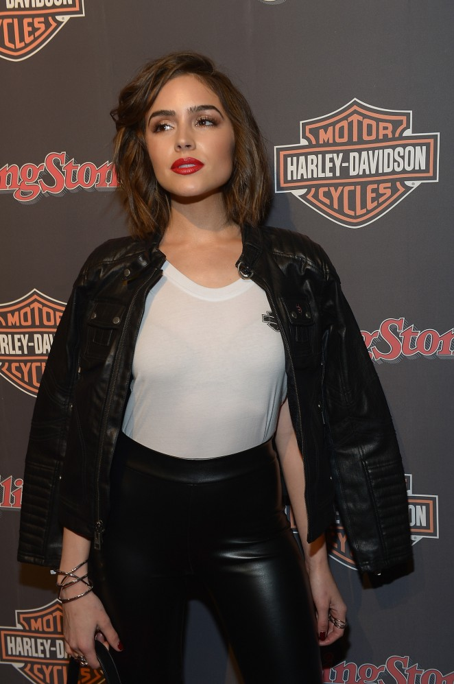 Olivia Culpo - Harley-Davidson Celebrates Black Label Collection With Rolling Stone in NYC