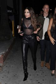 Olivia Culpo in a Sheer Top - Heads to the Delilah restaurant in West Hollywood