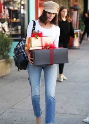 Olivia Culpo in Jeans - Christmas shopping at Espionage in LA