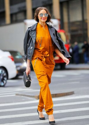 Olivia Culpo in Jumsuit Out in New York